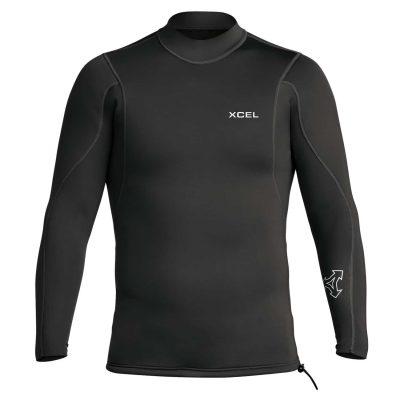 2.1mm-Long-Sleeve-Wetsuit-Top-Black