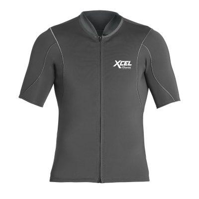 Short-Sleeve-Front-Zip-Wetsuit-Top-Graphite